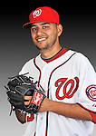25 February 2011: Brian Broderick poses for his Washington Nationals Photo Day portrait at Space Coast Stadium in Viera, Florida. Mandatory Credit: Ed Wolfstein Photo