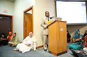 Durham mayor Bill Bell addressed the crowd at the Sikh Gurudwara of North Carolina in Durham to honor the victims of the Oak Creek shooting on Wednesday August 8th 2012.