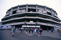 SEATTLE, WA - General overall exterior stadium view during a Seattle Seahawks football game of the Kingdome in Seattle, Washington in 1995. Photo by Brad Mangin