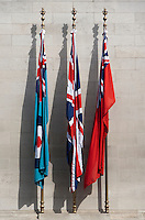 The Cenotaph Flags, Whitehall, London, Britain - 2010