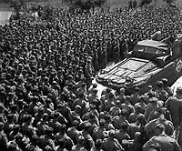 Lt. Col. Woran, Chaplain of the 10th Mountain Div., leads a group of men in prayer at Torboli the day following the unconditional surrender of all German troops in Italy.  May 3, 1945.  Bull.  (Army)<br /> NARA FILE #:  111-SC-205602<br /> WAR &amp; CONFLICT BOOK #:  1034