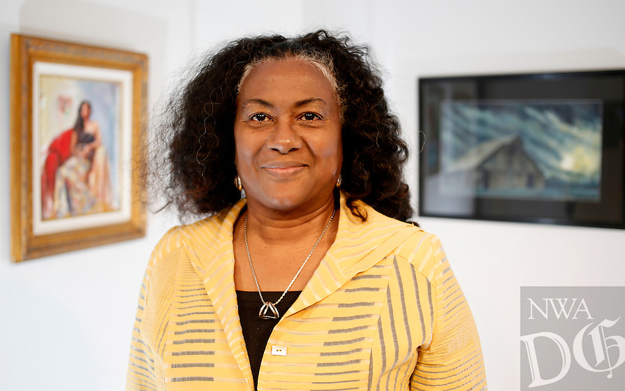 NWA Democrat-Gazette/DAVID GOTTSCHALK  Sharon Killiam, president of the Fayetteville Underground Board of Directors, artist and art professor at the University of Arkansas, Monday, March 21, 2016, in one of the studios at the Fayetteville Underground.