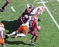 COLUMBIA, SOUTH CAROLINA - November 28, 2015: University of South Carolina Gamecocks play the number 1 ranked Clemson Tigers at Williams-Brice Stadium.  Final score Clemson 37, University of South Carolina 32.