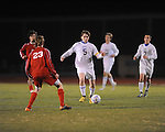 Oxford High's William Mayo (5) vs. Neshoba Central in MHSAA playoff soccer action in Oxford, Miss. on Tuesday, January 22, 2013. Oxford won 3-1.
