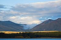 Mountains above lake Takepo, New Zealand