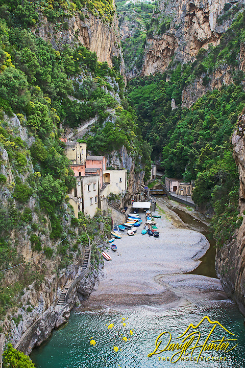 Fumore is a fiord on the Amalfi Coast and is an old fishing village with quaint homes built into the cliff. Part of the Amalfi Coast UNESCO World Heritage Site.