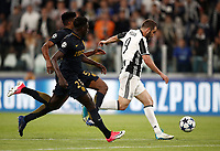 Football Soccer: UEFA Champions League semifinal second leg Juventus - Monaco, Juventus stadium, Turin, Italy,  May 9, 2017. <br /> Juventus' Gonzalo Higuain (r)  in action with Monaco's Benjamin Mendy (l) and Jemerson (c) during the Uefa Champions League football match between Juventus and Monaco at Juventus stadium, on May 9, 2017.<br /> UPDATE IMAGES PRESS/Isabella Bonotto