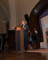 NEW YORK, NY - APRIL 3: Hon. David N. Dinkins, Harry Belafonte, John McEnroe, Randy Levine, Charles B. Rangel pictured as David N. Dinkins, 106th Mayor of the City of New York, receives the Dr. Phyllis Harrison-Ross Public Service Award for a lifetime of public service at the New York Society of Ethical Culture in New York City on April 3, 2014. Credit: Margot Jordan/MediaPunch