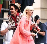 NEW YORK, NY-July 16: Jake Gyllenhaal, Tida Swinton shooting on location for Netflix & Plan B Enterainment  film Okja in New York. NY July 16, 2016. Credit:RW/MediaPunch