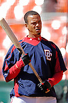 11 April 2006: Royce Clayton, shortstop for the Washington Nationals, awaits his turn during batting practice prior to the Nationals' Home Opener against the New York Mets in Washington, DC. The Mets defeated the Nationals 7-1 to start the 2006 season at RFK Stadium...Mandatory Photo Credit: Ed Wolfstein Photo..