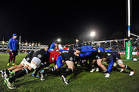 The Bath Rugby forwards practise their scrummaging during the pre-match warm-up. European Rugby Challenge Cup match, between Bath Rugby and Cardiff Blues on December 15, 2016 at the Recreation Ground in Bath, England. Photo by: Patrick Khachfe / Onside Images