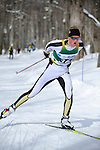 9 MAR 2011: Vegard Kjoelhamar of the University of Colorado competes in the men's 10km freestyle cross country race during the 2011 NCAA Men and Women's Division I Skiing Championship held Stowe Mountain Resort and Trapp Family Lodge in Stowe, VT. Kjoelhamar placed 2nd to take silver. ©Brett Wilhelm/NCAA Photos