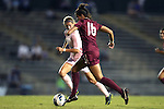 27 September 2012: Florida State's Carson Pickett (16) is chased by UNC's Katie Bowen (NZL) (behind). The University of North Carolina Tar Heels played the Florida State University Seminoles at Fetzer Field in Chapel Hill, North Carolina in a 2012 NCAA Division I Women's Soccer game. Florida State won the game 1-0.