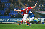 St Johnstone v Ross County....22.11.14   SPFL<br /> Michael O'Halloran scores to make it 2-0<br /> Picture by Graeme Hart.<br /> Copyright Perthshire Picture Agency<br /> Tel: 01738 623350  Mobile: 07990 594431