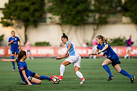Seattle, WA - Sunday, May 21, 2017: Camila Martins Pereira during a regular season National Women's Soccer League (NWSL) match between the Seattle Reign FC and the Orlando Pride at Memorial Stadium.