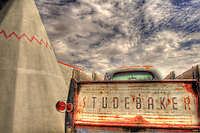 Old Studebaker truck at Wigwam Village - Route 66 - Holbrook, Arizona