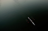A quad shell on the Potomac River, shot from the Key Bridge in Washington, DC on the morning of Wednesday, July 1 2009.  Photograph © 2009 Darren Carroll.