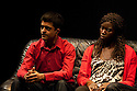 """18/05/2011.  """"Mad Blud"""" opens at Theatre Royal Stratford East. A new work exploring the reality behind the headlines of knife crime. L to R: Divian Ladwa and Anna-Maria Nabirye. Photo credit should read Jane Hobson"""