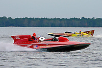 "Jack Schafer, U-36 ""Miss U. S."" (1956 Lauterbach Hydroplane) and Bill Black, U-55 ""Gale V"" (replica of the 1955 Gold Cup winner)"