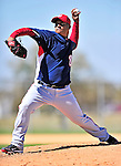 1 March 2010: Washington Nationals' relief pitcher Atahualpa Severino takes practice during Spring Training at the Carl Barger Baseball Complex in Viera, Florida. Mandatory Credit: Ed Wolfstein Photo