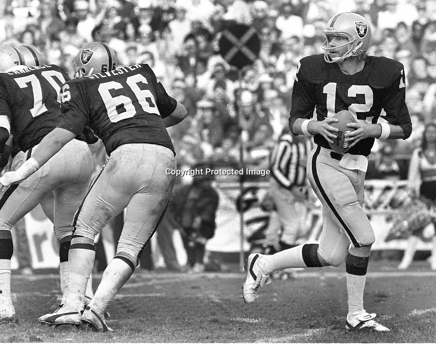 "Ken ""The Snake""Stabler drops back to pass..(1979 photo/Ron Riesterer)"