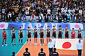 Japan Men's Volleyball Team Group (JPN), DECEMBER 4,2011 - Volleyball : FIVB Men's Volleyball World Cup 2011,4th Round Tokyo(A) during match between Japan 0-3 Brazil at 1st Yoyogi Gymnasium, Tokyo, Japan. (Photo by Jun Tsukida/AFLO SPORT) [0003]
