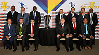 Santa Clara, CA - Tuesday, March 07, 2017: CONCACAF coaches during the unveiling of the CONCACAF 2017 Gold Cup Groups & Schedule at Levi's Stadium.