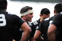 Mitchell Jacobson of New Zealand U20 speaks to his team-mates. World Rugby U20 Championship match between New Zealand U20 and Ireland U20 on June 11, 2016 at the Manchester City Academy Stadium in Manchester, England. Photo by: Patrick Khachfe / Onside Images