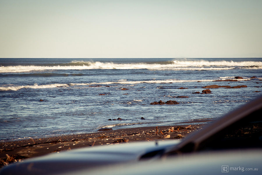 I arrived at this break with only a few guys out. Looks small in this photo, but those waves were a decent 4 foot plus.
