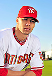 28 February 2010: Washington Nationals center fielder Jerry Owens poses for his Spring Training photo at Space Coast Stadium in Viera, Florida. Mandatory Credit: Ed Wolfstein Photo