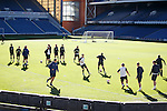 Rangers training at Ibrox