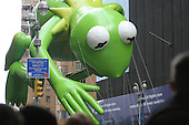 Kermit the frog on the Macy's Day parade Thursday November 27, 2004. photo by jane therese