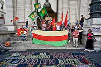 Rete Kurdistan protesta a Roma dopo un attacco terroristico suicida a Suruç.