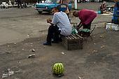 Gorlivka, Ukraine.July 31, 2005..The open market near railway station........