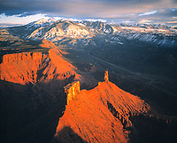 Castle Rock & La Sal Mountains, Utah