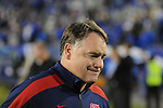 Ole Miss head coach Houston Nutt walks off the field following a loss to Kentucky at Commonwealth Stadium in Lexington, Ky. on Saturday, November 5, 2011. Kentucky won 30-13...