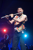 Ian Anderson of Jethro Tull plays the flute at Interlochen Michigan on 7/19/06