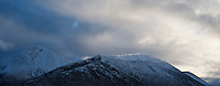 Clearing winter storm over Red Cuillin Hills, Isle of Skye, Scotland