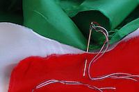 Bandiera italiana da ricucire. Italian flag patch.......