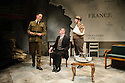 Bob Benton and Daniel Brodie for DB Productions in association with Park Theatre present the World Premiere of<br /> &quot;The Patriotic Traitor&quot;<br /> written and directed by Jonathan Lynn. Picture shows: Laurence Fox (Charles de Gaulle), Tom Mannion (Lord Halifax), James Chalmers
