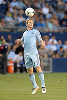 Jacob Peterson (37) forward Sporting KC in action..Sporting Kansas City and New England Revolution played to a 0-0 tie at LIVESTRONG Sporting Park, Kansas City, KS.