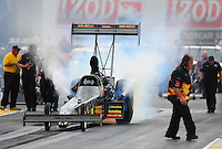 Jul. 31, 2011; Sonoma, CA, USA; NHRA top fuel dragster driver Troy Buff during the Fram Autolite Nationals at Infineon Raceway. Mandatory Credit: Mark J. Rebilas-