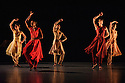 "Alston Dance Company presents ""An Italian In Madrid"" at Sadler's Wells. choreographed by Richard Alston, lighting design by Karl Oskar Sordal, costume design by Fotini Dimou. Picture shows: Jennifer Hayes, Sharia Johnson, Vidya Patel, Oihana Vesga Bujan, Elly Braund"