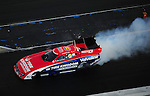 Jan. 20, 2012; Jupiter, FL, USA: Aerial view of NHRA funny car driver Johnny Gray during testing at the PRO Winter Warmup at Palm Beach International Raceway. Mandatory Credit: Mark J. Rebilas-
