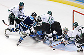 Ethan Graham (Michigan State - Xenia, OH), Vince Laise (University of Maine - Brampton, ON), Josh Soares (University of Maine - Hamilton, ON), Michel Leveille (University of Maine - Levis, PQ), Jeff Dunne (Michigan State - Grover, MO), Matt Schepke (Michigan State - Warren, MI), Jeff Lerg (Michigan State - Livonia, MI), Nick Sucharski (Michigan State - Toronto, ON) - The Michigan State Spartans defeated the University of Maine Black Bears 4-2 in their 2007 Frozen Four semi-final on Thursday, April 5, 2007, at the Scottrade Center in St. Louis, Missouri.