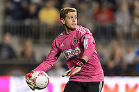 Philadelphia Union goalkeeper Zac MacMath (18). The Philadelphia Union defeated Toronto FC 1-0 during a Major League Soccer (MLS) match at PPL Park in Chester, PA, on October 5, 2013.