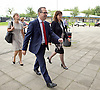 Owen Smith - Labour Leadership contender delivers a speech on the NHS <br /> 15th August 2016 attacking Jeremy Hunt and Theresa May&rsquo;s privatisation agenda, and warning that the health service faces further threats from underfunding and Brexit.<br />  <br /> He also spoke about his personal commitment to the NHS, stemming from his and his family&rsquo;s experience of the service, and will set out his radical plans to increase spending on the NHS every year.<br />  <br /> at <br /> The University of Salford, Manchester, Great Britain <br /> arriving with Vice Chancellor of Salford University and kate Green MP <br /> <br /> Photograph by Elliott Franks <br /> Image licensed to Elliott Franks Photography Services
