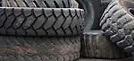 Used heavy equipment tires.  Harper, West Virginia