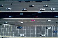 Segundo piso urban highway. aerial drone photography, Mexico City, Mexico