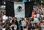 Hundreds of thousands staged a rally on main Mexico City's thoroughfares against the imposition of Enrique Pena Nieto as president of Mexico, who is accused of buying votes and other electoral irregularities. Photo by Heriberto Rodriguez
